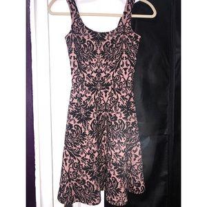 Bar III Flowy Mauve and Black Dress